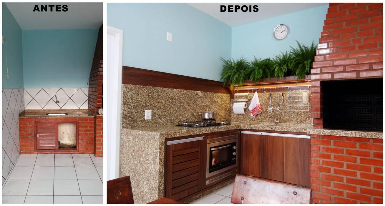 現代廚房設計點子、靈感&圖片 根據 Ponta Cabeça - Arquitetura Criativa 現代風