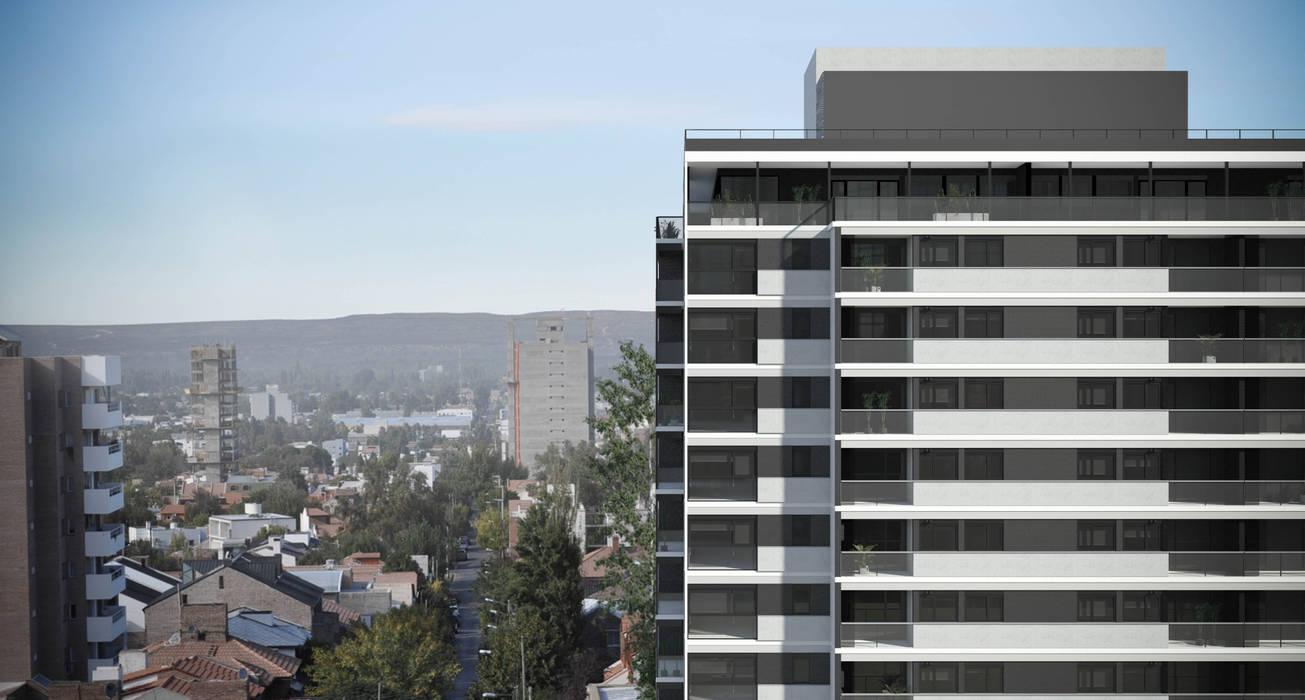 Vista Edificio Gemma2 : Casas de estilo moderno por Akros S.R.L.