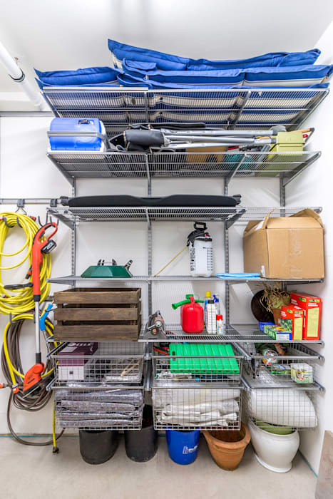 Elfa Project Photos : Storage solutions for every room Modern Garage and Shed by Pamela Kilcoyne - Homify Modern