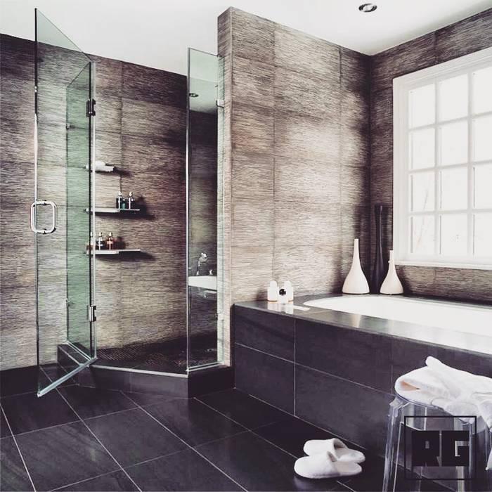 RAGHAN YAPI PROJE MİMARLIK Modern bathroom