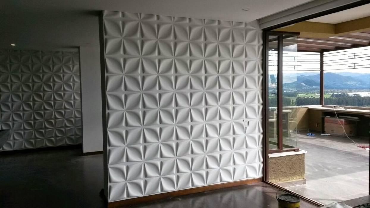 Tường & sàn phong cách hiện đại bởi dekora2013 Hiện đại Tre Green