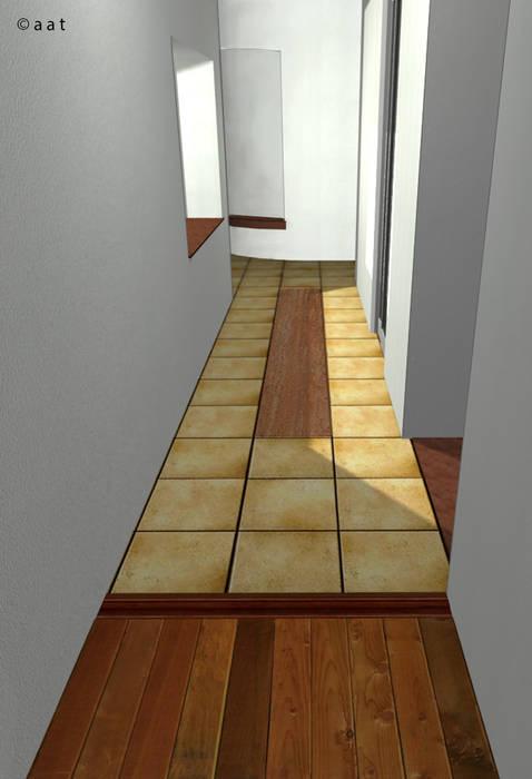luminescent floor: Ingresso & Corridoio in stile  di Alessandro Tosetti