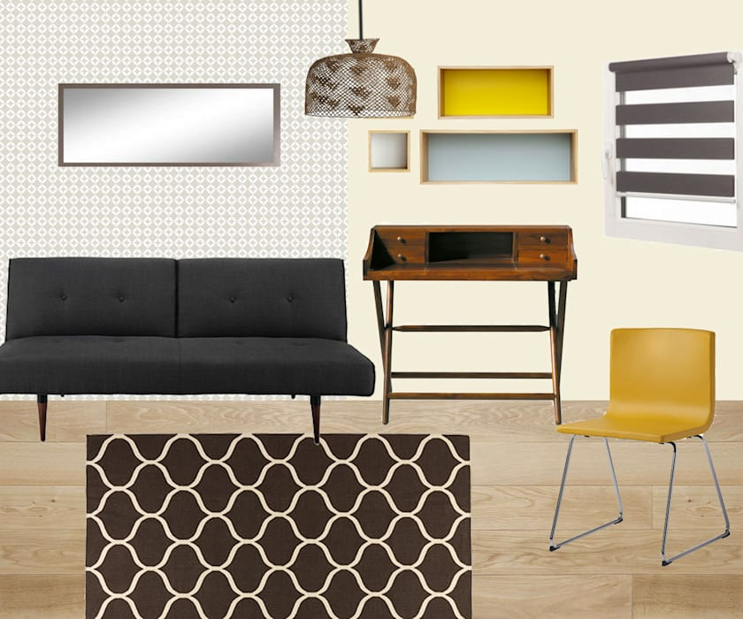 Une chambre d'amis-bureau: Chambre de style de style Classique par Mon Intérieur Sur Mesure (MISM)