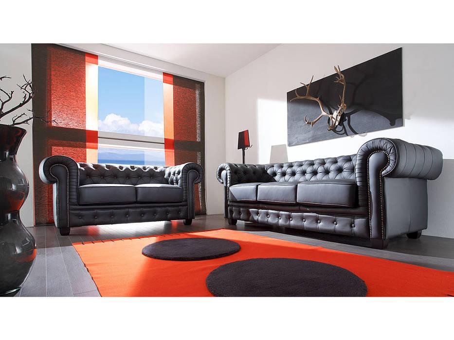Chesterfield garnitur schwarz: wohnzimmer von massivum | homify