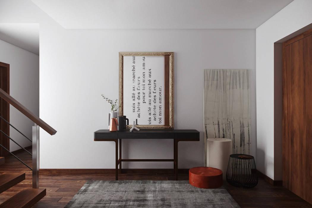 Moderner Flur, Diele & Treppenhaus von DZINE & CO, Arquitectura e Design de Interiores Modern