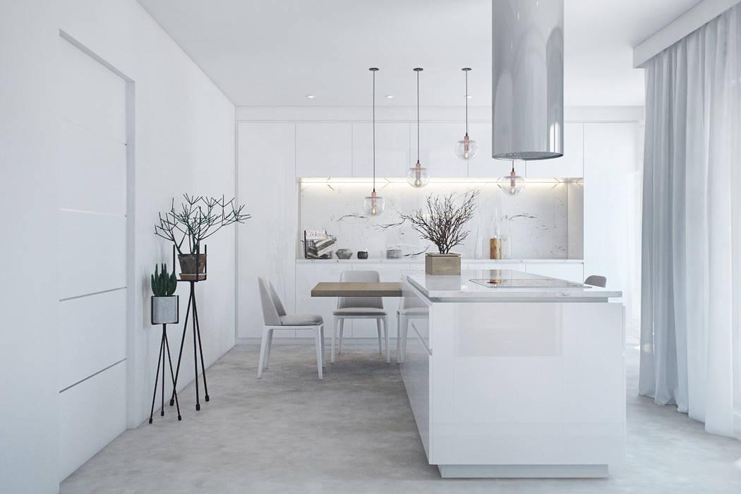 COZINHA Cozinhas modernas por DZINE & CO, Arquitectura e Design de Interiores Moderno