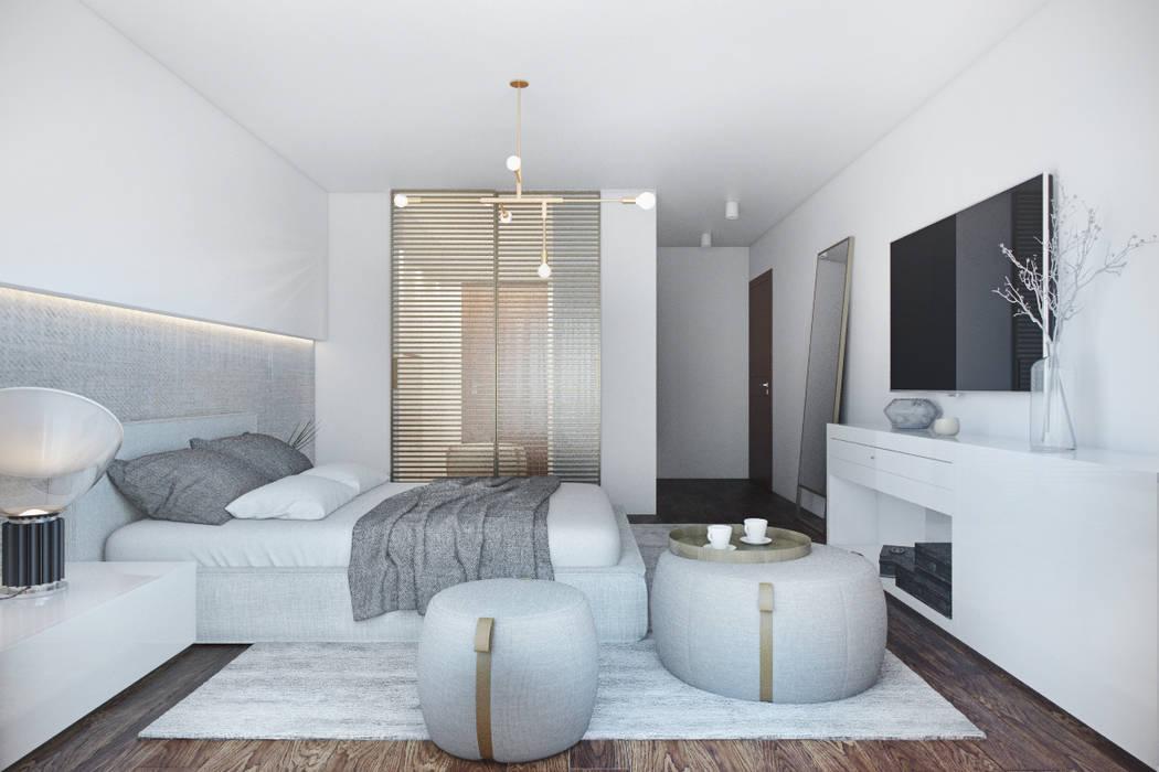 Modern style bedroom by DZINE & CO, Arquitectura e Design de Interiores Modern