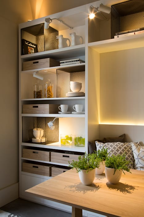 Vista mueble comedor Comedores modernos de Estudio de iluminación Giuliana Nieva Moderno