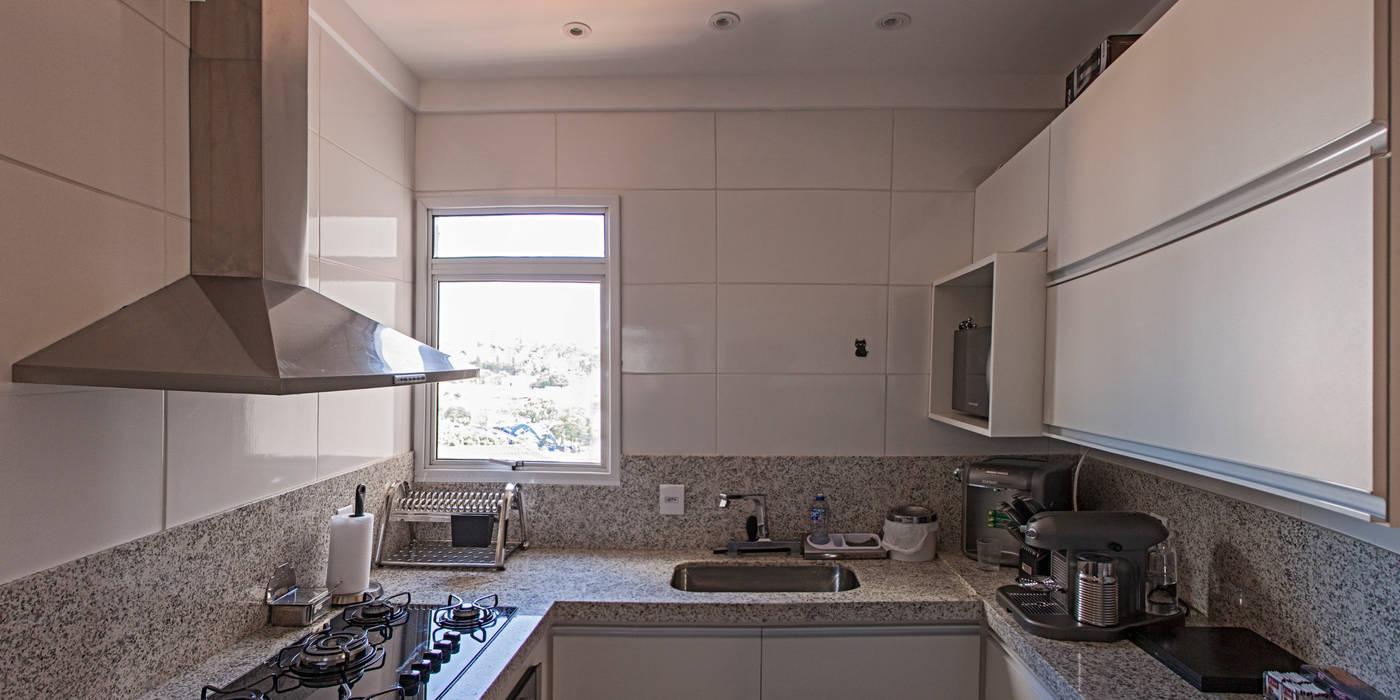 Apartamento Mnl Lozí - Projeto e Obra Cozinhas modernas