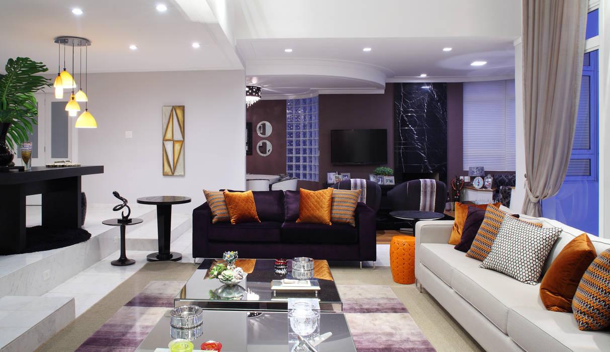 Salones de estilo  de Studio 262 - arquitetura interiores paisagismo,