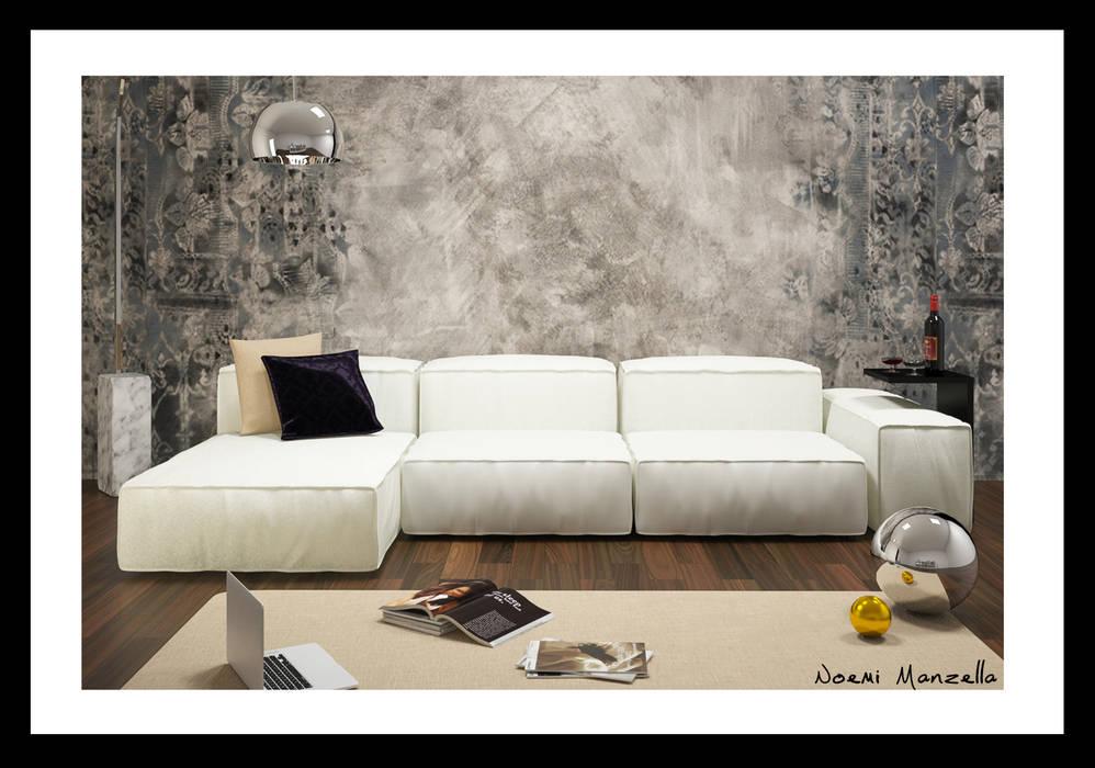 Immagine finale: Soggiorno in stile in stile Moderno di IA-Ingegneria e Architettura_Noemi Manzella