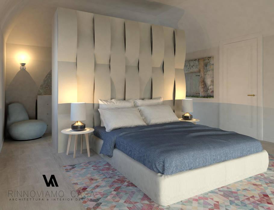 Progetto appartamento su due piani a napoli: camera da letto in ...