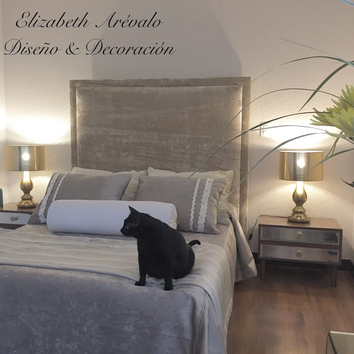Habitación Dorado Cat: Habitaciones de estilo  por ea interiorismo