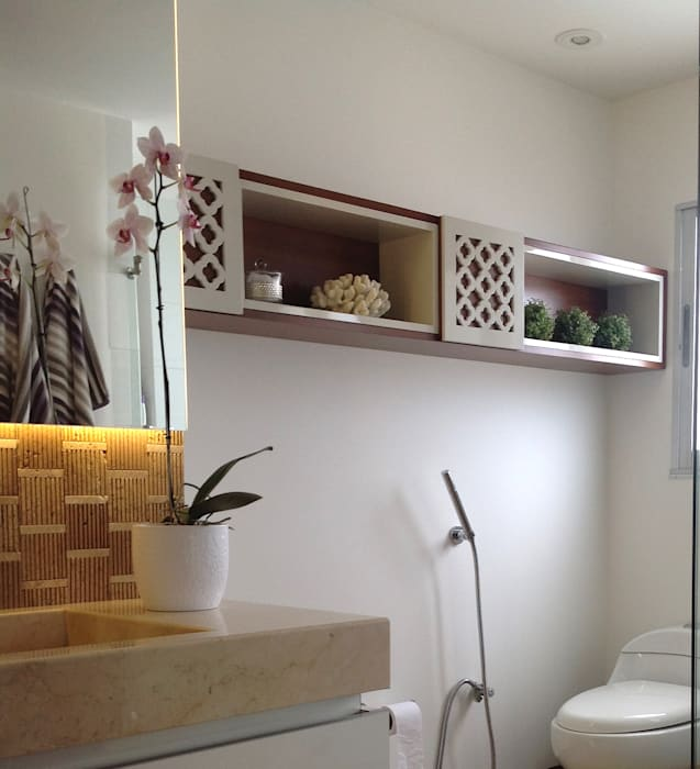 Baño Habitación Principal: Baños de estilo  por ea interiorismo