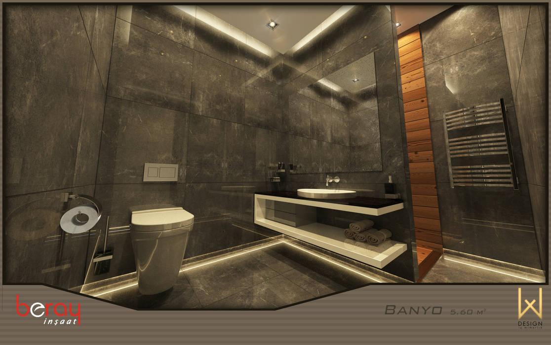 Modern style bathrooms by W DESIGN İÇ MİMARLIK Modern Ceramic