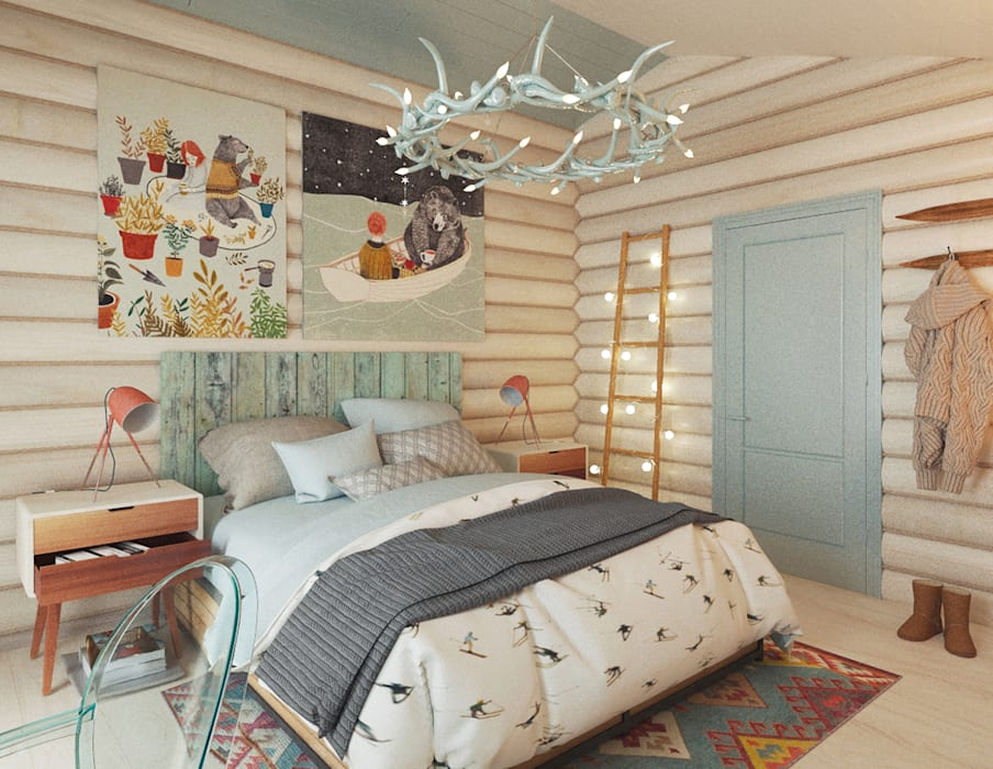 Scandinavian style bedroom by Бражинская Scandinavian