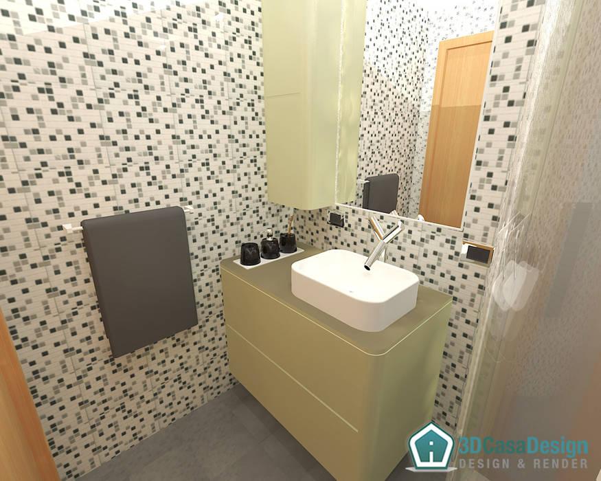 D casa design u bagno di servizio bagno in stile in stile