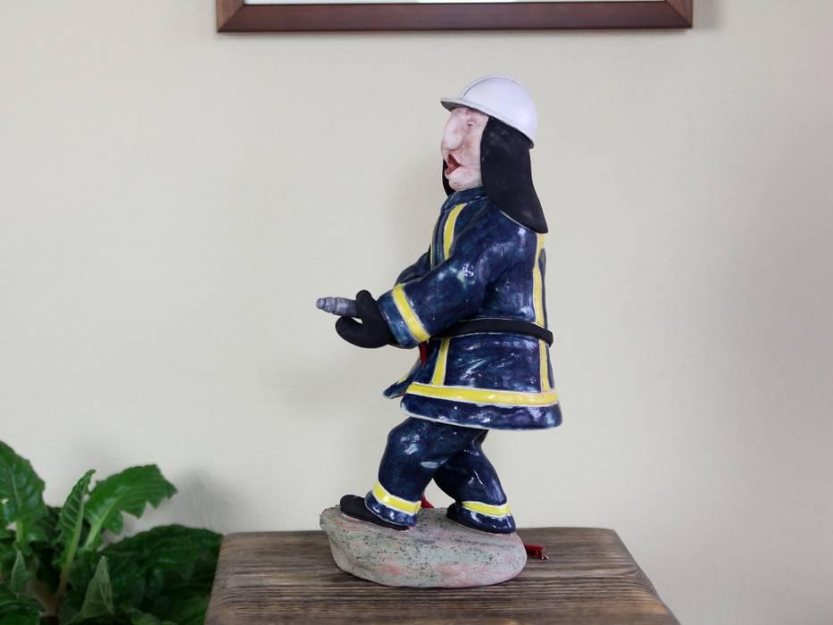 """Skulptur """"Feuerwehrmann"""" fair-art Steffen Karol WohnzimmerAccessoires und Dekoration"""