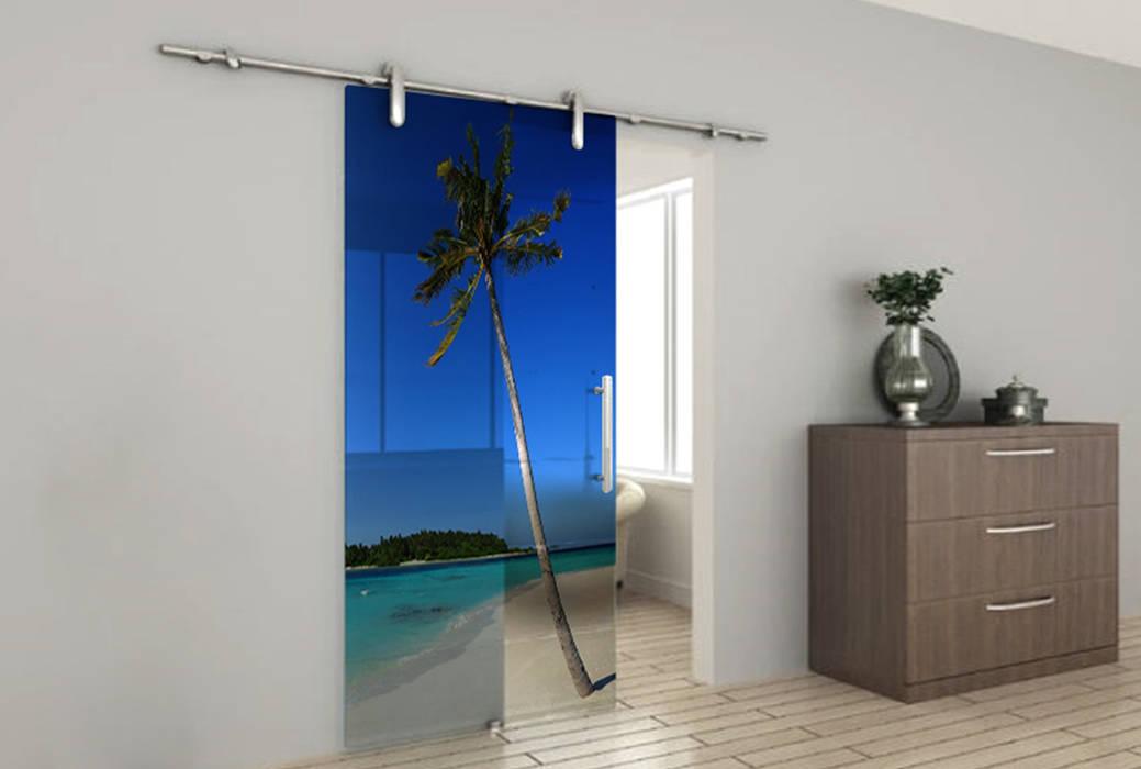 Porta vetro stampata a colori: Finestre in stile  di lizea sas