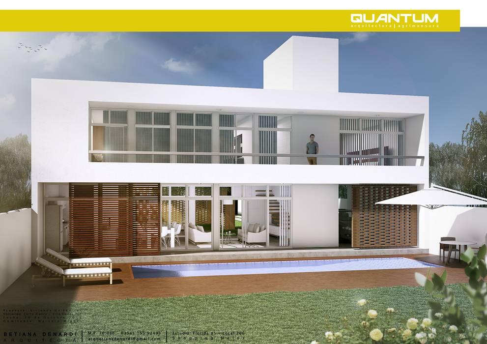 IMAGEN 3D: Casas de estilo minimalista por QUANTUM | Arq. Betiana Denardi