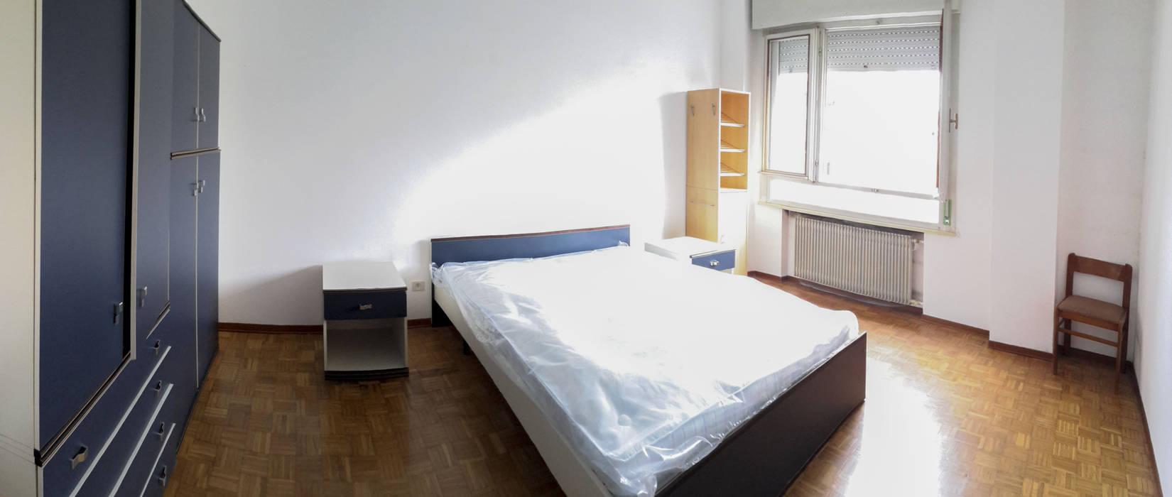 Prima : Camera da letto in stile in stile Moderno di homeSbattistella