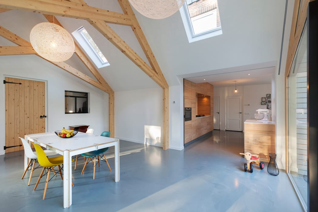 Barn living moderne woonkamer door bureau fraai homify