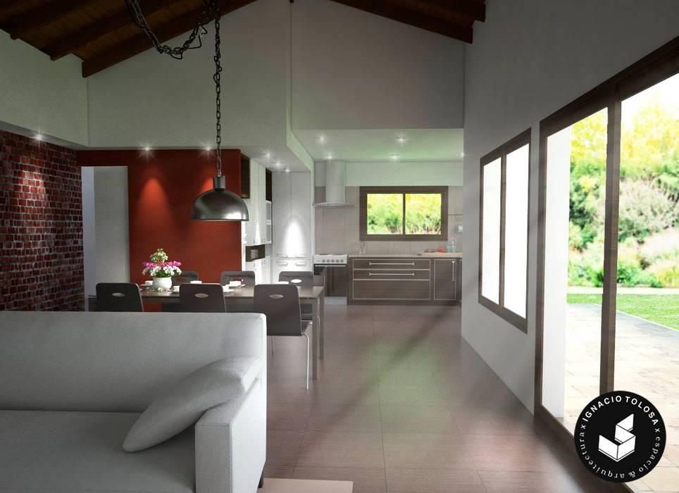 Comedor Comedores modernos de Ignacio Tolosa Arquitectura Moderno
