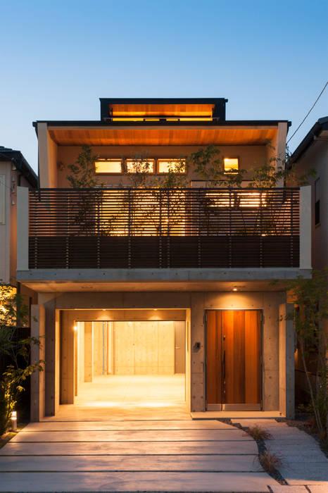 Casas de estilo ecléctico de Sakurayama-Architect-Design Ecléctico