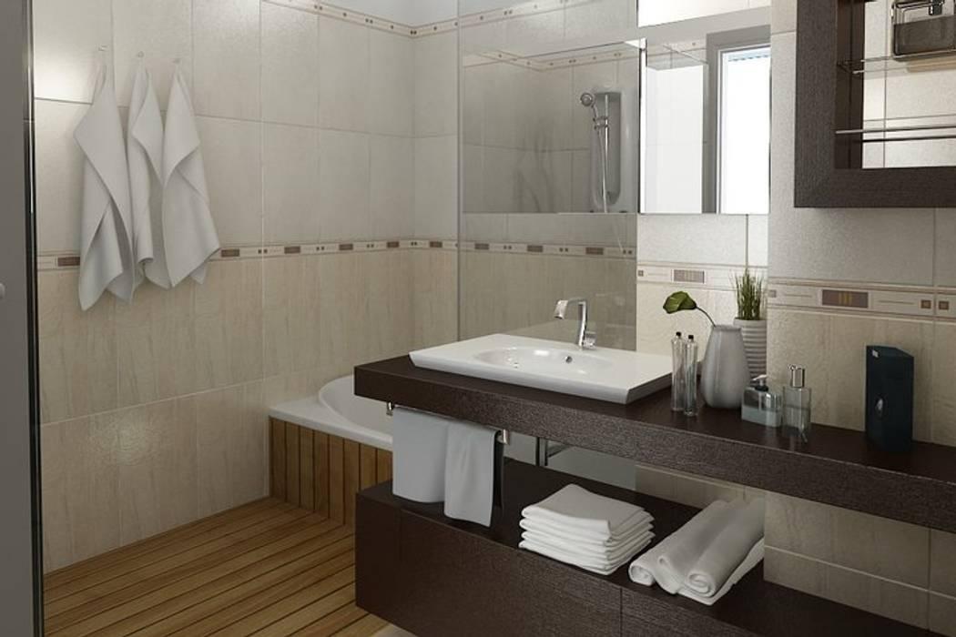 Baños de estilo moderno de ArqmdP - Arquitectura + Diseño Moderno