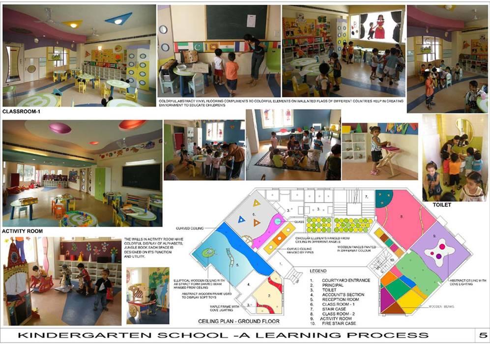 Kindergarten School:  Schools by eSpaces Architects ,