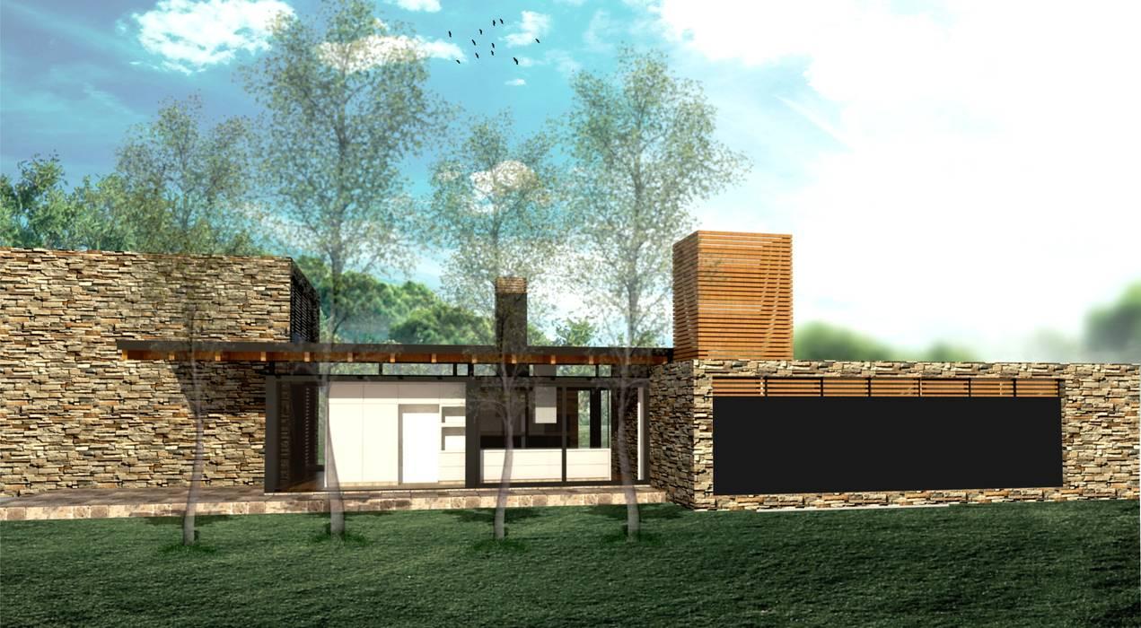 Casa de PiedraCASA DE PIEDRA - Autores: Mauricio Morra Arq., Diego Figueroa Arq.: Casas de estilo  por Mauricio Morra Arquitectos