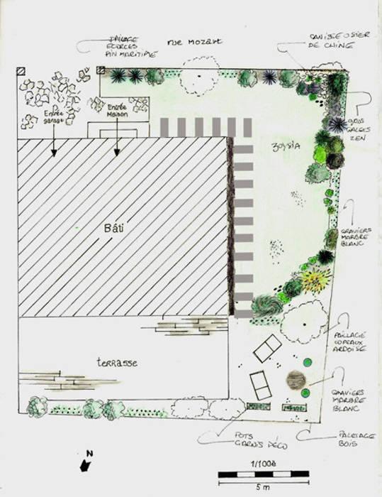 Plan de masse : Jardin de style de style Asiatique par Le Jardin Qui Bouge