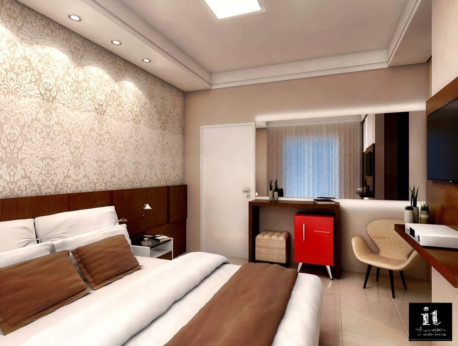 Projeto IT AQUITETURA E INTERIORES Modern style bedroom