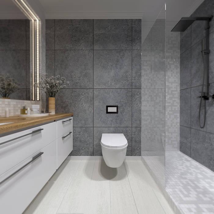 A R C H I T I Z M Industrial style bathroom Grey