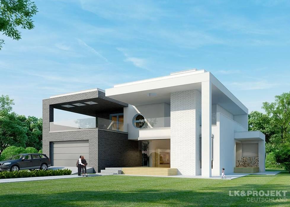 Das Dach Wurde Mit Modernen: Das Moderne Architektenhaus Mit Flachdach: Häuser Von Lk