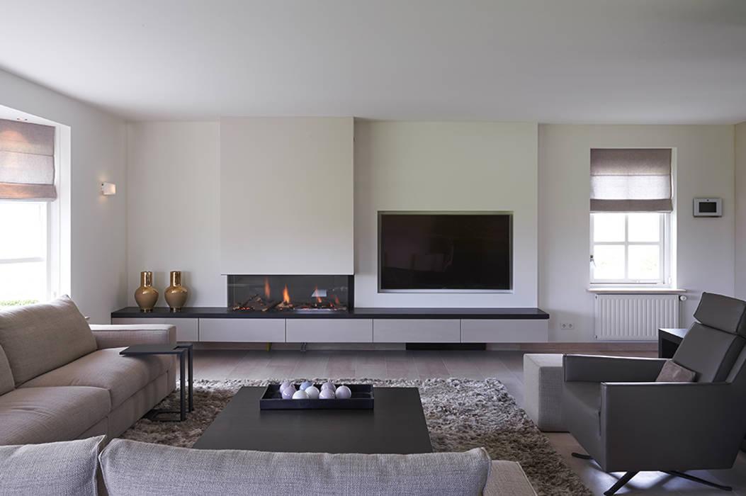 Villa hilversum: rustieke & brocante woonkamer door designa ...