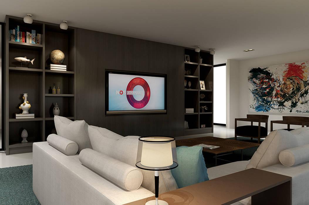 غرفة المعيشة تنفيذ designa interieur architectuur bna homify