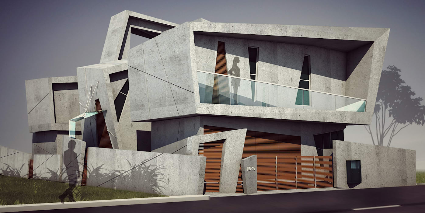 by Offcentered Architects Сучасний Бетон