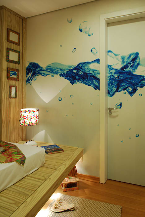 ARQ Ana Lore Burliga Miranda BedroomLighting Flax/Linen Blue