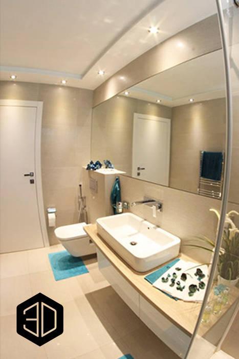 Mała łazienka Duże Lustro Styl W Kategorii łazienka