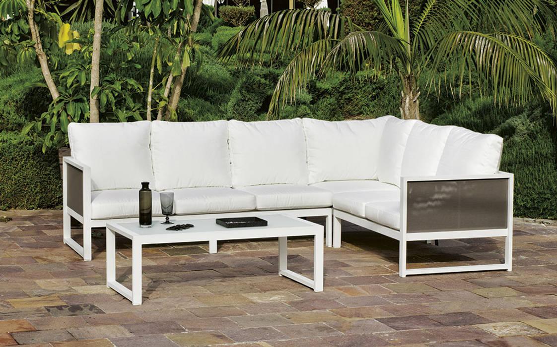 Hevea Garden Furniture Aluminium/Zinc White