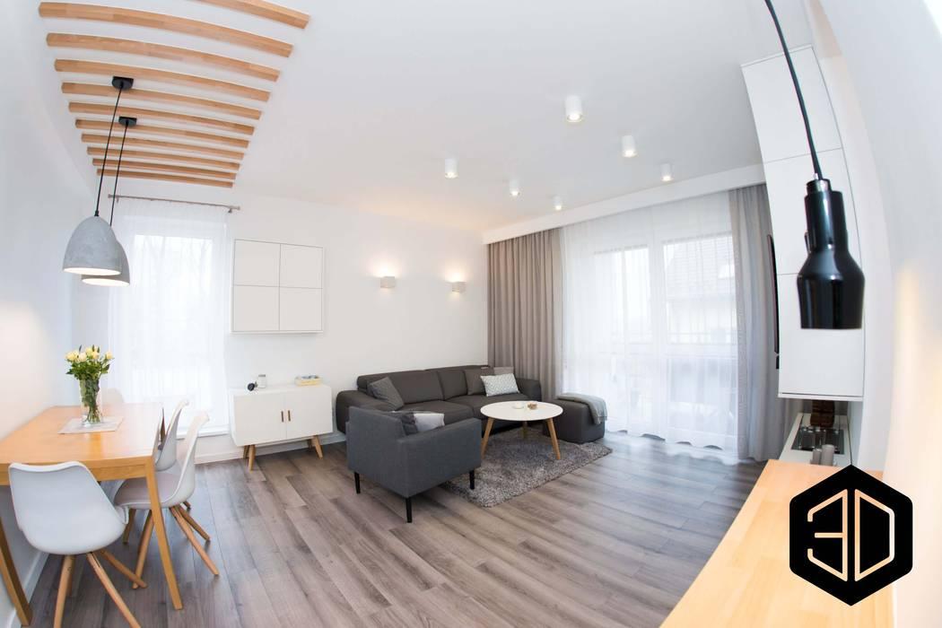 Ruang Keluarga Gaya Skandinavia Oleh 3D STUDIO Skandinavia