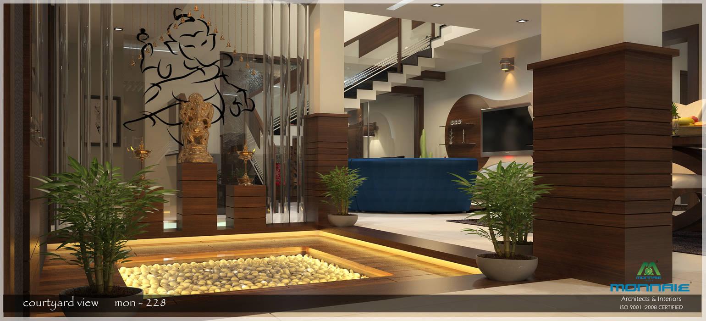 Contemporary Interior Design Premdas Krishna Modern corridor, hallway & stairs