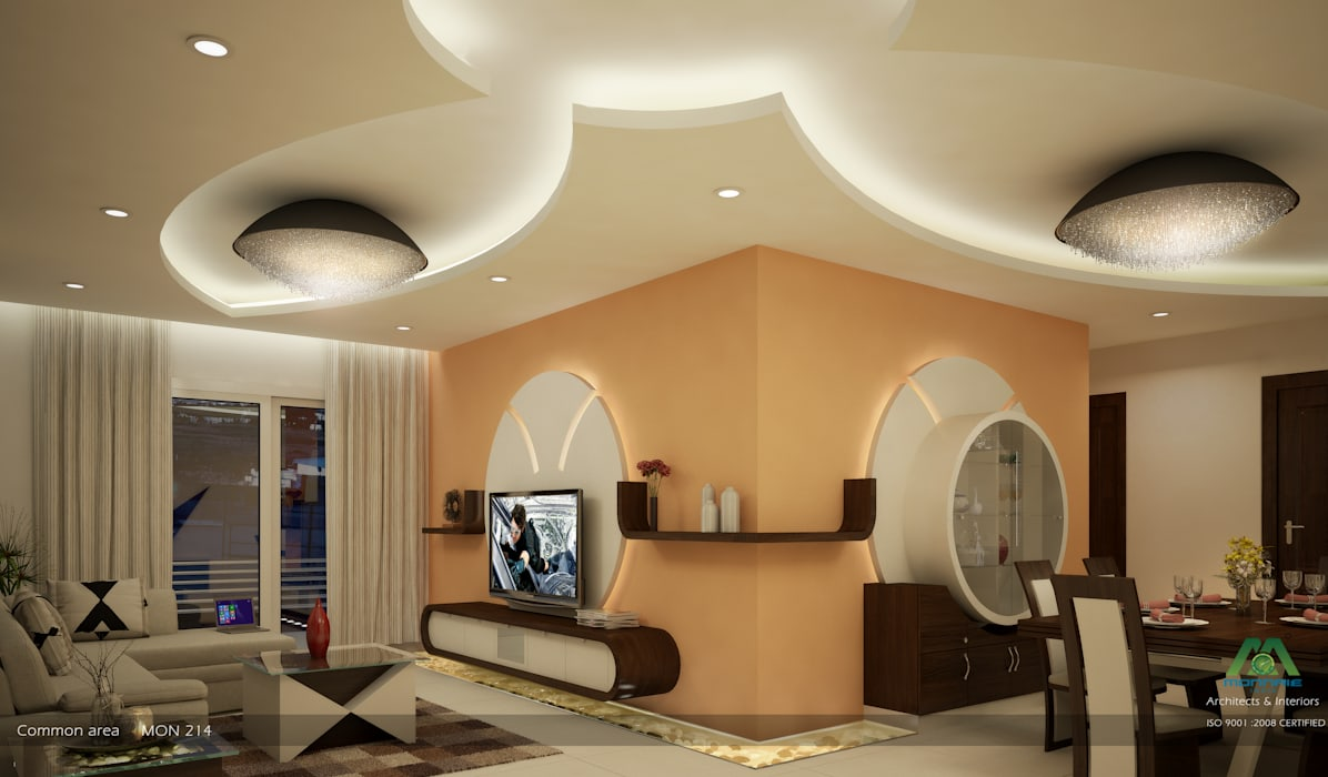 Modern Living Room by Premdas Krishna Modern