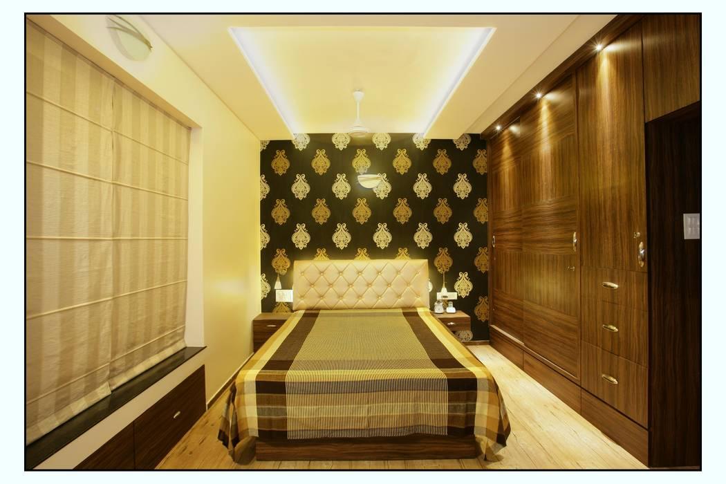 Residence For Captain Nikhil Kanetkar and Ashwini Kanetkar Navmiti Designs Modern style bedroom