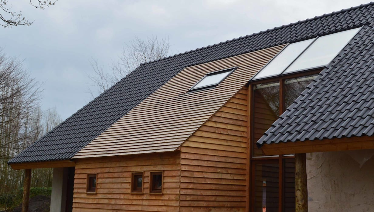 Houses by STROOM architecten, Country Wood Wood effect