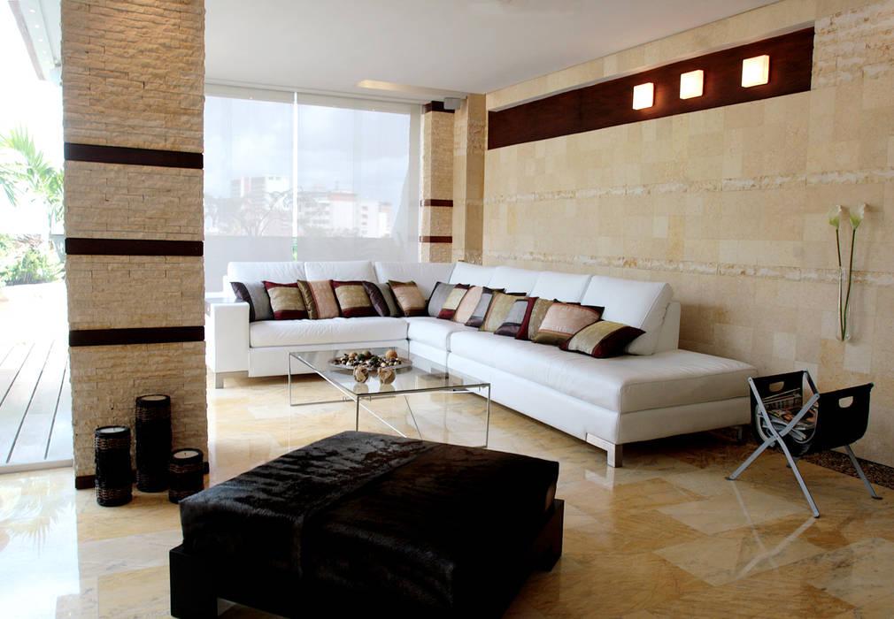 Pent House 505: Salas / recibidores de estilo  por Arq Renny Molina, Moderno