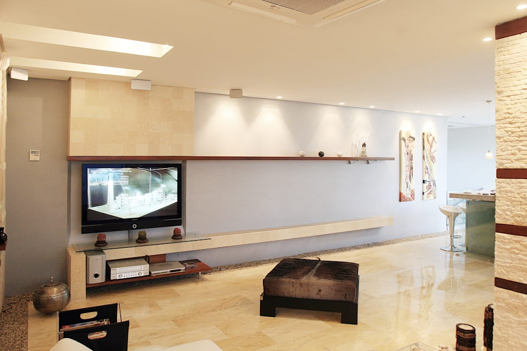 Pent House 505: Salas / recibidores de estilo  por Arq Renny Molina,