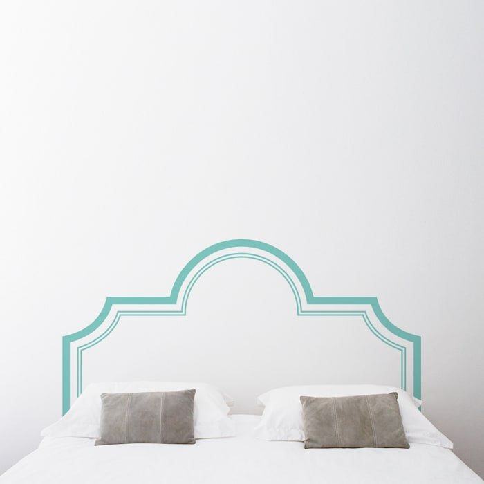 Elegant Headboard Wall Decal Sticker: classic  by Sirface Graphics Ltd., Classic