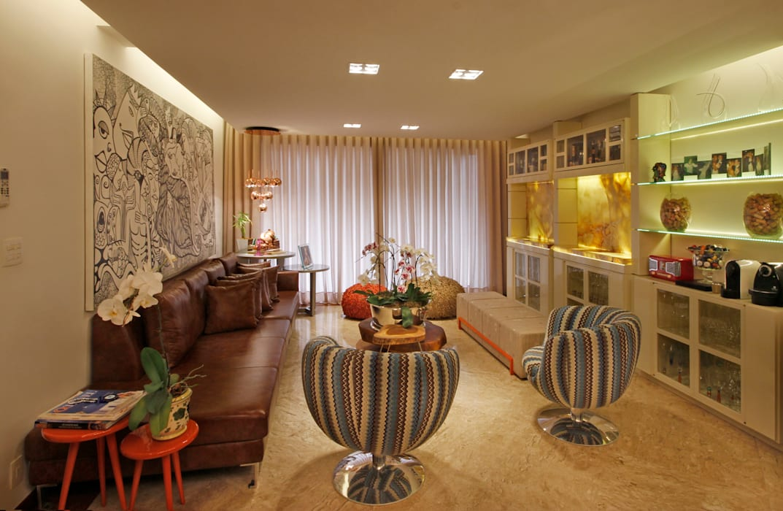 Salones de estilo  de Jacqueline Ortega Design de Ambientes,